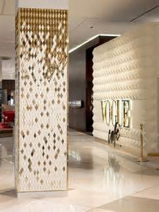 love the tile wall with the diamonds love the column and