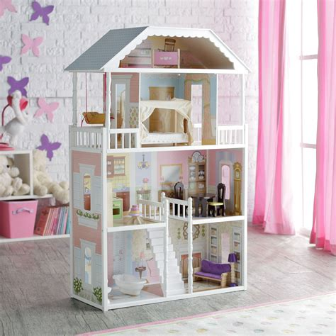 kid kraft doll house kidkraft savannah dollhouse 65023 toy dollhouses at hayneedle