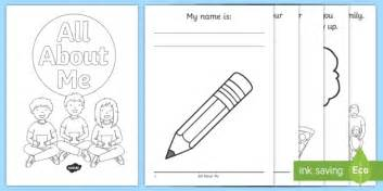 all about frames all about me activity booklet usa back to school beginning