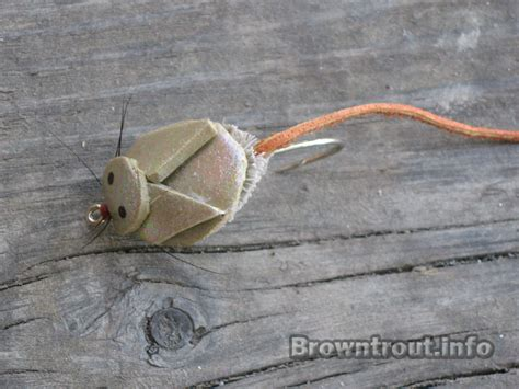 mouse pattern brown trout the top mouse fly patterns and streamers for night fishing