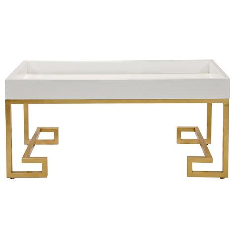 white and gold desk davinci hollywood regency white lacquer gold coffee