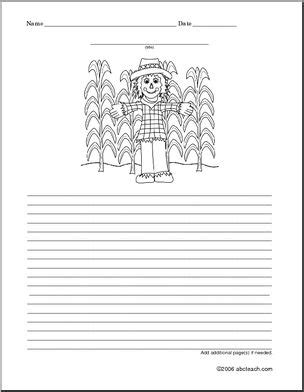 scarecrow writing paper scarecrow color and write i abcteach abcteach