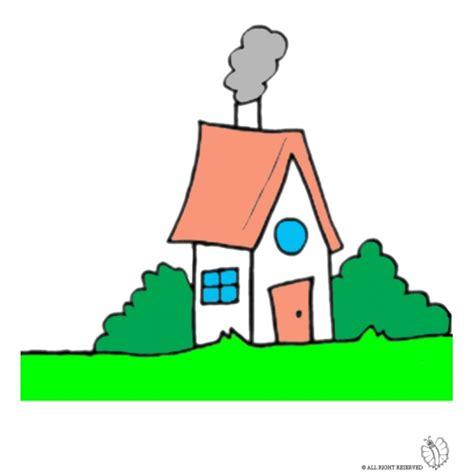 disegni casa disegno di casa nel bosco a colori per bambini