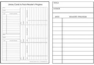 Library Checkout Template by Library Cards Track Your Kid S Reading Progress Free