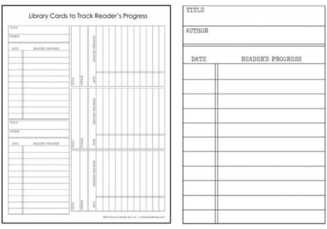 library book list template library cards track your kid s reading progress free