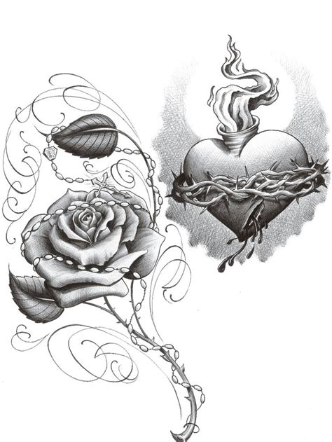 sacred rose tattoo sacred sketch www pixshark images galleries
