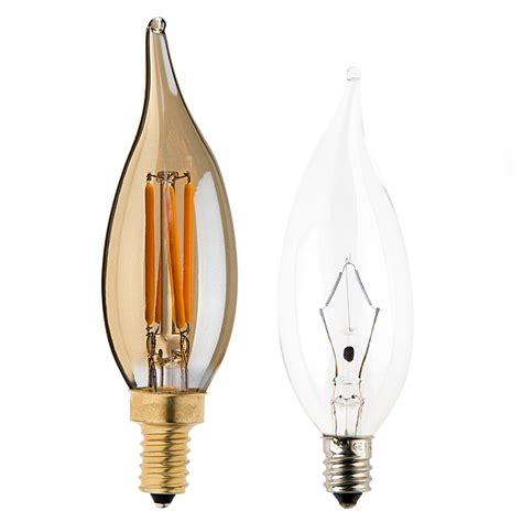 candelabra led bulbs ca10 led filament bulb 25 watt equivalent candelabra led