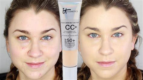 it cosmetics cc cream light review it cosmetics your skin but better cc cream demo