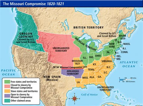 map of us states in 1820 missouri compromise of 1820 quotes quotesgram