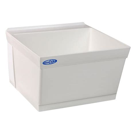 wall mount laundry sink mustee 23 in x 23 in composite wall mount laundry tub