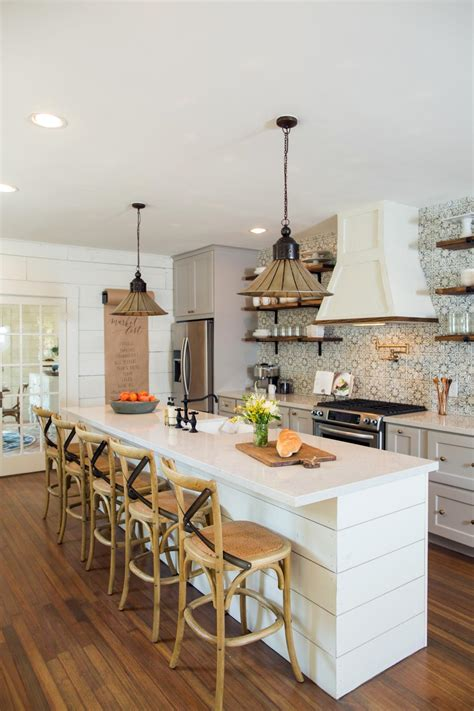 large kitchen island with seating 21 home decoration fixer upper makeover a style packed small space hgtv s