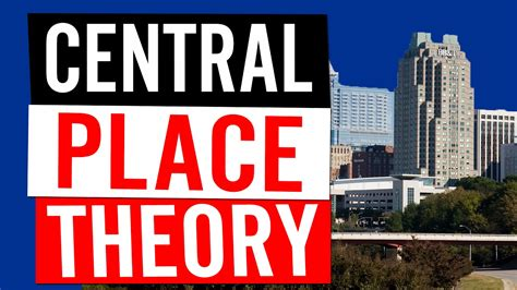 spatial patterns design central place theory