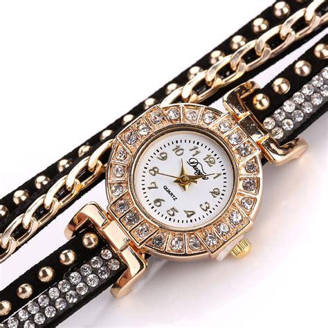 Jam Tangan Wanita Model Gelang Rhinestone Dy038 Black jam tangan wanita model gelang rhinestone dy001 black jakartanotebook