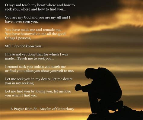 31 prayers for my seeking god s will for him books st anselm of canterbury seeking god prayers