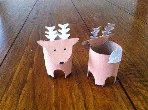 Reindeer Paper Crafts - toilet roll reindeer