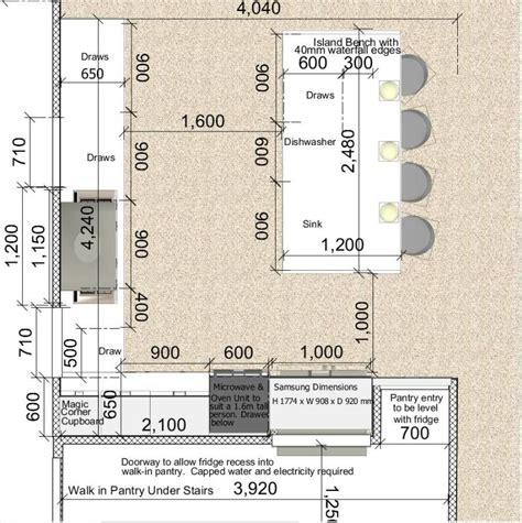 Island kitchen dimensions view topic kitchen draw depths whats the