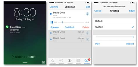 iphone voicemail how to activate visual voicemail kogan mobile help centre