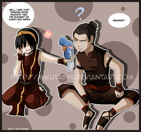 Toph And Sokka Mudkip By Mikutashi On Deviantart