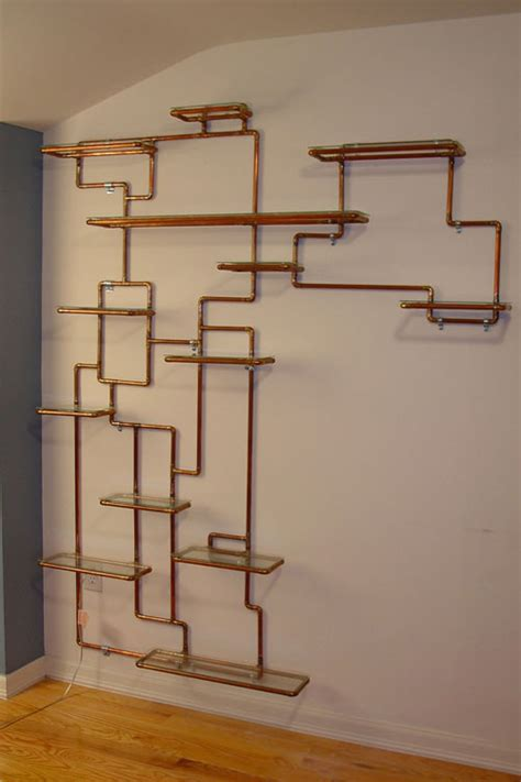 copper pipe art sculptural copper tubing furniture and art by tj volonis