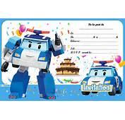 Robocar Poli  Cartes Et Invitations Gratuites 123