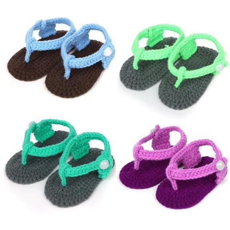 How To Make Handmade Baby Shoes - discount handmade baby sandals woolen yarn crochet baby