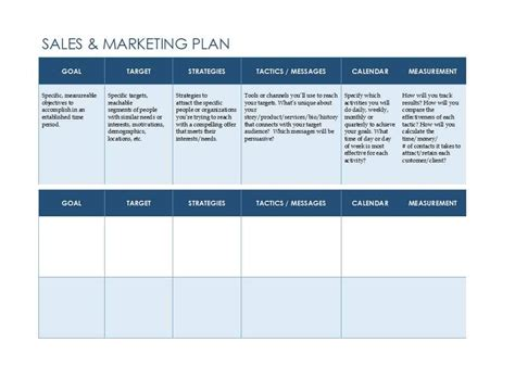 sales and marketing plans templates sales plan template free freemium templates