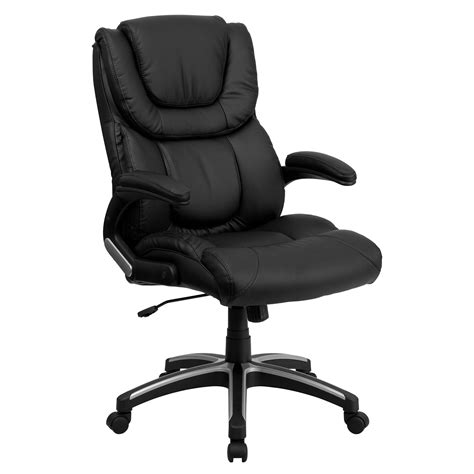 flash furniture leather executive office chair flash furniture bt 9896h gg high back black leather