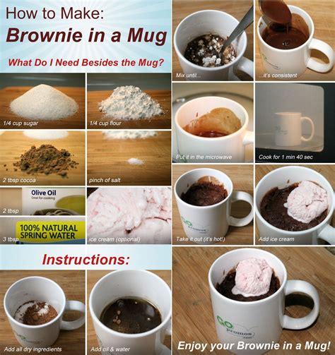 Really Cool Mugs by Diy Easy Chocolate Fix Brownie In A Mug Ricksdiy Com