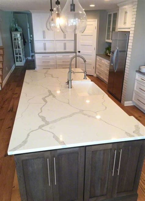 white marble quartz kitchen island white marble quartz