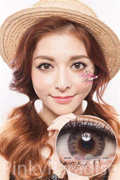 Softlens Geo Holicat Gray geo tri color grey circle lenses colored contacts