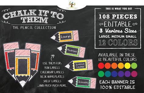 Free Editable Chalkboard Labels