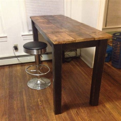 kitchen table reclaimed wood reclaimed barnwood hightop table kitchen table by theindustrialist