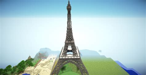 Minecraft House Blueprints Layer By Layer eiffel tower minecraft project
