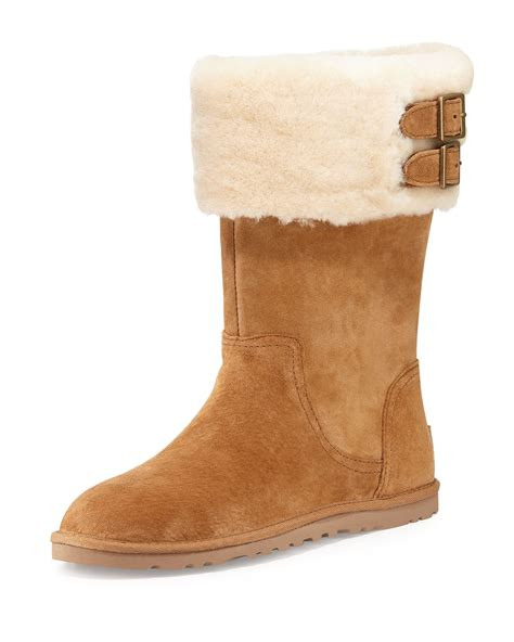 ugg australia boots authentic ugg australia beckham suede chestnut sheepskin