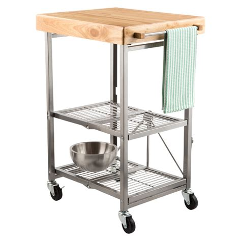 origami folding kitchen island cart origami kitchen cart the container store