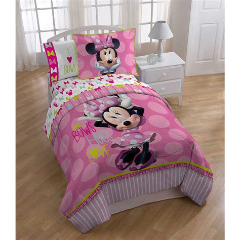 Minnie Mouse Bedding by Disney Minnie Mouse Bowtique Comforter Set Ebay