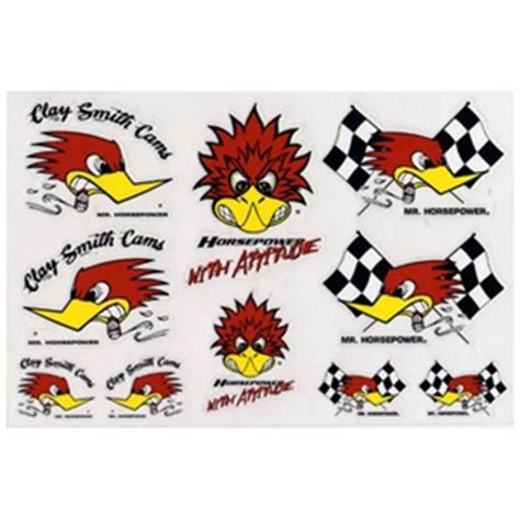 clay smith cams mr horsepower 10 assorted stickers decal