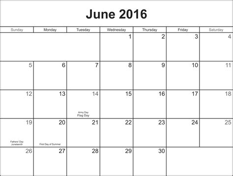 Blank June Calendar Jan 2016 Calendar Templates Calendar Template 2016