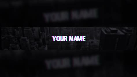youtube layout glitch free glitch youtube banner template tutorial youtube