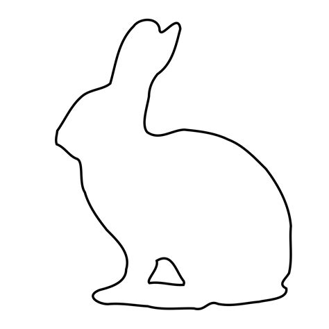 bunny outline coloring page bunny outline clipart best