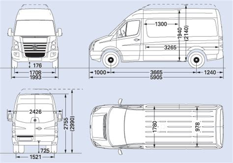 volkswagen crafter dimensions vw crafter cr50 mwb cer interior pinterest vw