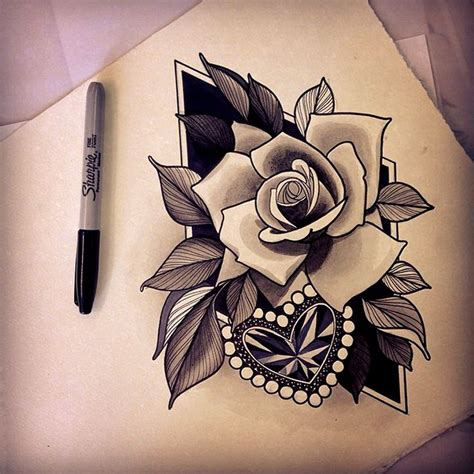 roses with hearts tattoos 71 best images about neo traditional on