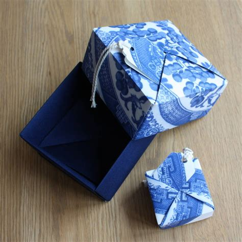 Origami Box Pattern - willow pattern origami box by identity papers