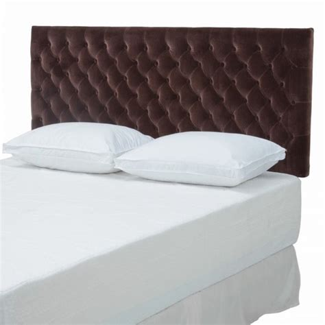 brown tufted headboard trent home michael tufted panel headboard in brown 309832cy