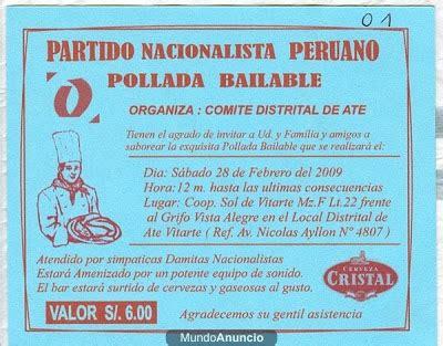 descargar modelo de tarjeta de pollada clases de historia septiembre 2009