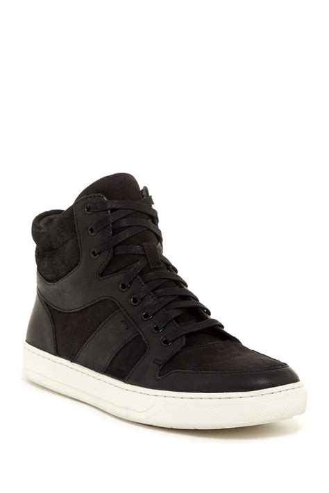 shoe rack for high top sneakers vince adam high top sneaker in black for lyst