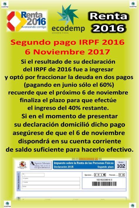 pago fraccionado irpf 2016 blog con noticias de asesoramiento fiscal y contable