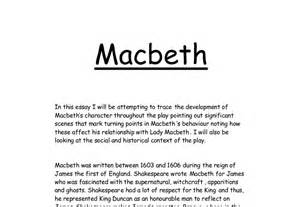 Macbeth Gcse Essay by Trace The Development Of Macbeth S Character Gcse Marked By Teachers