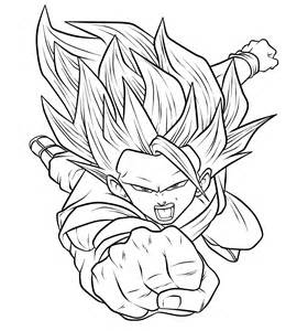goku ssj3 linearts by wladyb91 on deviantart