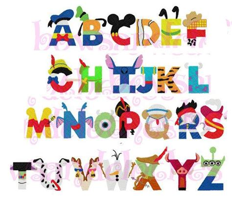 Disney Character Letter K 25 Best Ideas About Disney Alphabet On Letter